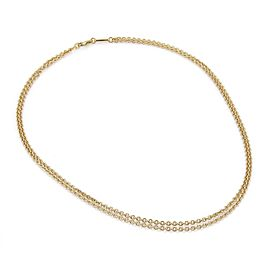 Chopard 18K Yellow Gold Oval Link Double Chain Necklace