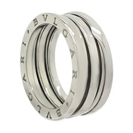Bulgari B.Zero1 18K White Gold 3 Band Ring Size 7.25