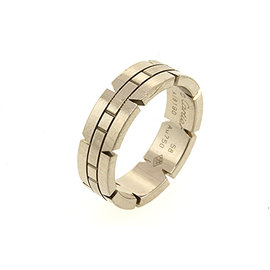 Cartier Tank Francaise 18K White Gold Wedding Band Ring Size 8.5