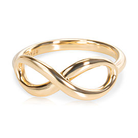 Tiffany & Co. Infinity 18K Yellow Gold Ring Size 5.75
