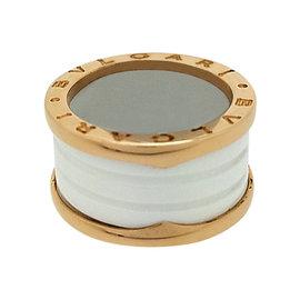 Bulgari B.Zero1 18K Pink Gold & Ceramic Ring Size 6.5