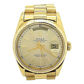Rolex President Day-Date 18238 18K Yellow Gold Automatic 36mm Unisex Watch