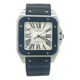 Cartier Santos W20121U2 Stainless Steel & Rubber Automatic 38mm Unisex Watch