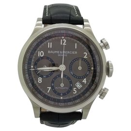 Baume & Mercier Capeland 65687 Stainless Steel & Leather Automatic Mens Watch