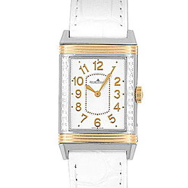 Jaeger LeCoultre Reverso Q3224420268.D.86 Stainless Steel & Leather Manual 40mm Mens Watch
