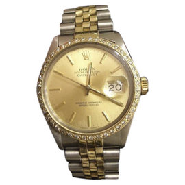 Rolex Datejust 160132 14K Yellow Gold and Stainless Steel with Black Dial 36mm Mens Watch