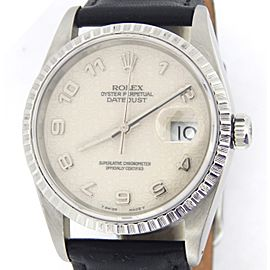 Mens Rolex Stainless Steel Datejust White Arabic 16220
