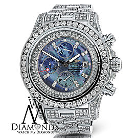 Breitling Super Avenger Watch Dark Mother of Pearl Dial Custom Diamond Watch A13370