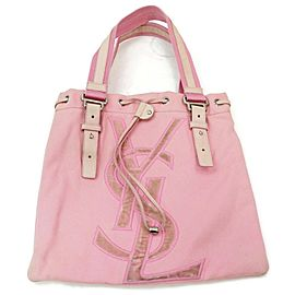 Saint Laurent 872033 Pink Canvas Tote