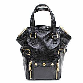 Saint Laurent Downtown Ysl 868591 Black Patent Leather Tote