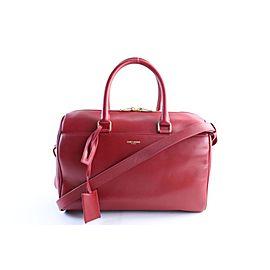 Saint Laurent Duffle 6 2way Boston 13mr0515 Red Leather Satchel