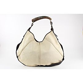 Saint Laurent Ivory Mombasa Horn Hobo Bag 7ysl1228