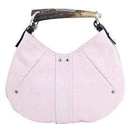 Saint Laurent Mombasa Limited Edition 21mt914 Light Pink Canvas Shoulder Bag