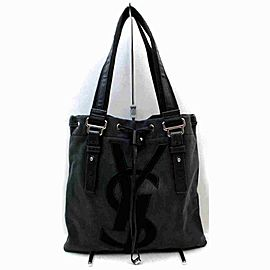 Saint Laurent Ysl Kahala 872986 Black Canvas Tote