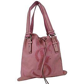 Saint Laurent Ysl Kahala Logo 872848 Pink Canvas Tote