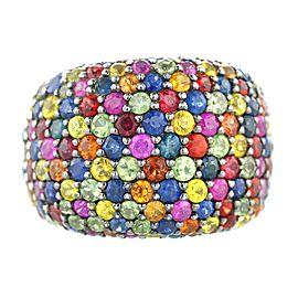 EFFY Sterling Multi-Color Sapphire Splash Large Dome Ring