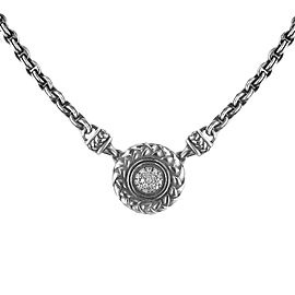 Scott Kay Silver with Diamond Pendant Necklace