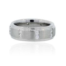 Scott Kay Platinum Diamond Wedding Band Ring 4.75