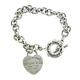 Tiffany & Co. Sterling Silver Return to Tiffany Heart Toggle Bracelet
