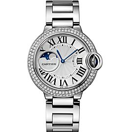 Cartier Ballon Bleu Moonphase Custom 2row Diamond bezel WSBB0021