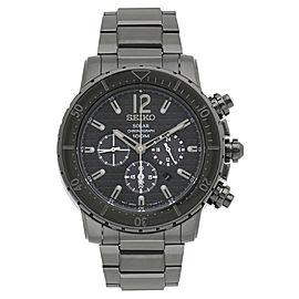 Seiko Solar Chronograph SSC225 49mm Mens Watch