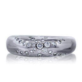 Chaumet 18K White Gold 0.65ct Diamond Ring Size 6.5