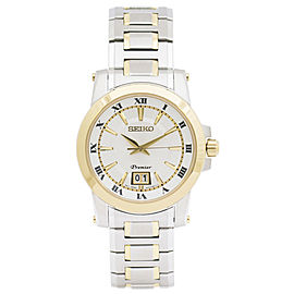 Seiko Premier Perpetual Calendar Quartz SUR016 41mm Mens Watch
