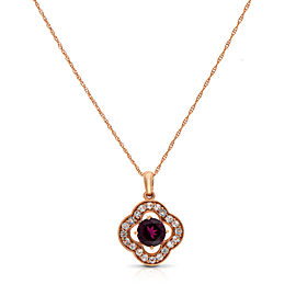 Le Vian Certified Pre-Owned Earrings Raspberry Rhodolite Pendant