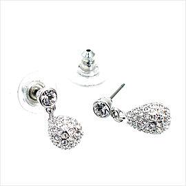 Swarovski Palladium Heloise Teardrop Earrings