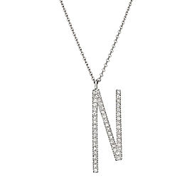 "Mimi So Type Letter ""N"" Pave Diamond Pendant"