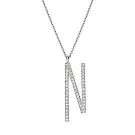"Mimi So Type Letter ""N"" Pave Diamond Pendant"