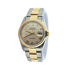 Mens Rolex Two-Tone 18K/SS Datejust Ivory Roman 16203