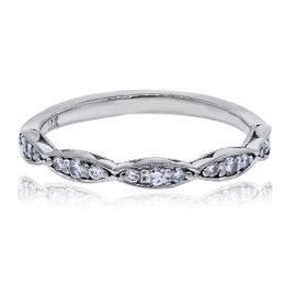 Tacori Dantela 18K White Gold Diamond Wedding Band Ring Size 5