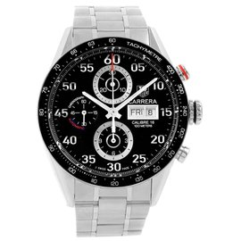 Tag Heuer Carrera CV2A10 Stainless Steel Black Dial Automatic 43mm Mens Watch