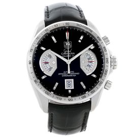 Tag Heuer Grand Carrera CAV511A Stainless Steel & Leather Automatic 43mm Mens Watch