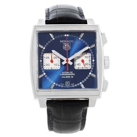 Tag Heuer Monaco Calibre CAW2111 Stainless Steel 39mm Automatic Mens Watch