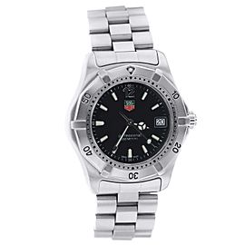 Tag Heuer Professional WK1210 Black Dial Stainless Steel Watch