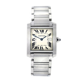 Cartier Tank Francaise 2465 Stainless Steel 25mm Unisex Watch