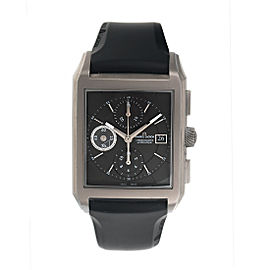 Maurice Lacroix Pontos PT6197-TT003-331 Titanium Rectangulaire Anthracite Dial Chronograph 41.85mm Mens Watch