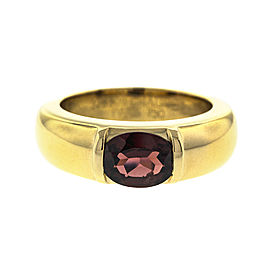 Chaumet 18k Yellow Gold Garnet Ring