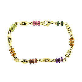 18k Yellow Gold Bvlgari Colored Stone Bracelet