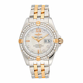 Breitling Cockpit B49350 Stainless Steel and 18K Yellow Gold Diamond Bezel Automatic 41mm Mens Watch