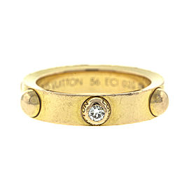 Louis Vuitton 18k Rose Gold Diamond Band Ring