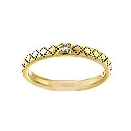 Gucci 18k Yellow Gold Diamond Band Ring