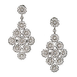 Tiffany & Co. Rose Collection Platinum Diamond Dangle Earrings