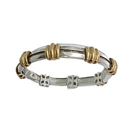 Tiffany & Co. Atlas Sterling Silver & 18K Yellow Gold Bracelet