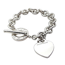Tiffany & Co. Sterling Silver Toggle with Heart Charm Bracelet