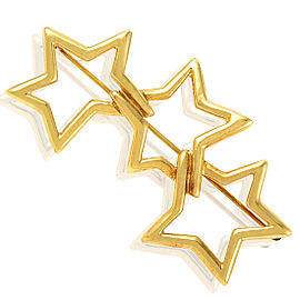 Tiffany & Co. 18K Yellow Gold Interlocking Star Brooch