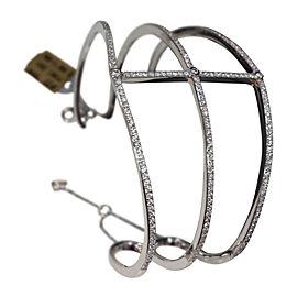 18kt White Gold and Diamonds Cuff Bracelet