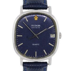 Tudor Geneve 618469 Stainless Steel Blue Dial Quartz Vintage 31mm Unisex Watch
